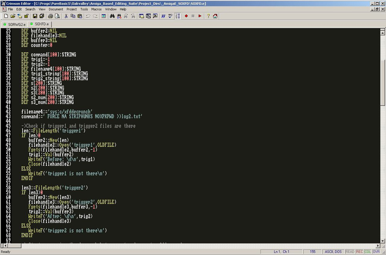 Stone Oakvalley's Amiga Based Suite (SOABS) - Sneak preview