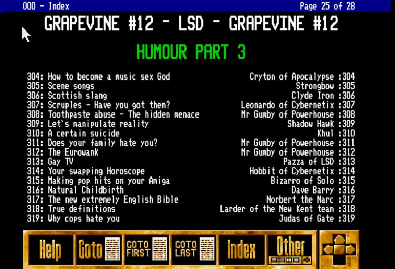 Contents of Grapevine Issue #12 - Stone Oakvalley Studios - One