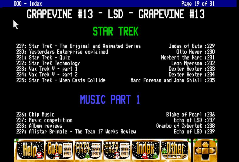 Contents of Grapevine Issue #13 - Stone Oakvalley Studios - One